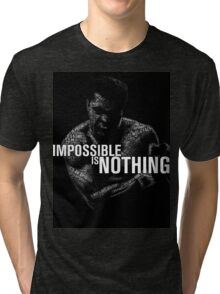 "Mohamed Ali ""impossible is nothing"" Tri-blend T-Shirt"