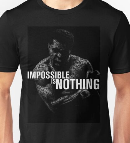 """Mohamed Ali """"impossible is nothing"""" Unisex T-Shirt"""