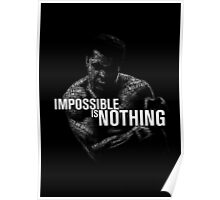 """Mohamed Ali """"impossible is nothing"""" Poster"""