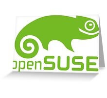 Open Suse logo  Greeting Card