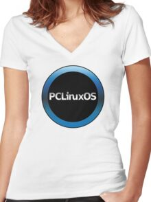 pc linux os logo Women's Fitted V-Neck T-Shirt
