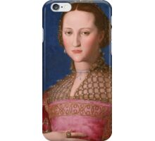 Agnolo Bronzino - Eleonora of Toledo 1543 Woman Portrait iPhone Case/Skin