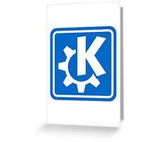 KDE logo Greeting Card