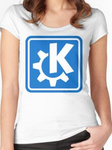 KDE logo Women's Fitted Scoop T-Shirt