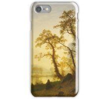 Albert Bierstadt - Sunrise, Yosemite Valley 1870. Famous Paintings. Original iPhone Case/Skin