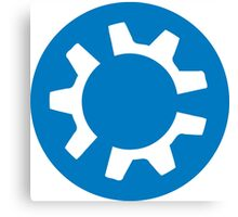 kubuntu logo Canvas Print