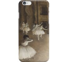 Edgar Degas - Ballet Rehearsal on Stage (1874)  Impressionism iPhone Case/Skin