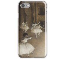Edgar Degas - Ballet Rehearsal on Stage (1874)  Impressionism iPhone Case/Skin