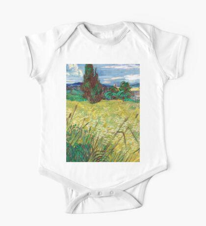 1889-Vincent van Gogh-Green Field-73,5x92,5 One Piece - Short Sleeve