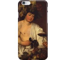 Caravaggio - The adolescent Bacchus 1595 - 1597 Fashion Portrait, Italian  iPhone Case/Skin