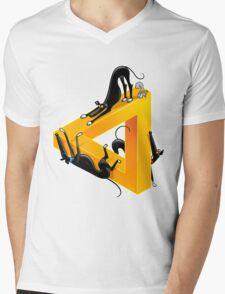 Greyllusion Mens V-Neck T-Shirt