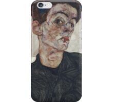 Egon Schiele - Self-Portrait with Chinese Lantern Plant 1912  iPhone Case/Skin