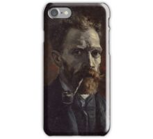 Vincent Van Gogh - Self-portrait with pipe, September 1886 - November 1886 iPhone Case/Skin