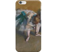 Edgar Degas - Waiting (1882) iPhone Case/Skin