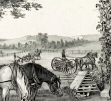 Farm and fireside - 1878 - Currier & Ives Sticker