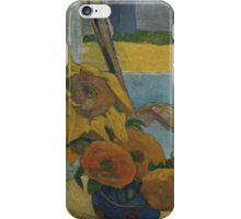 Paul Gauguin - Vincent van Gogh painting sunflowers 1888 iPhone Case/Skin