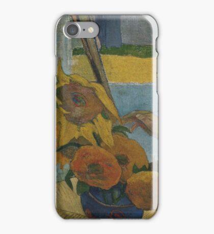 Paul Gauguin - Vincent van Gogh painting sunflowers 1888 iPhone Case/Skin