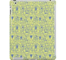 Chaotic Angles - Green by Deirdre J Designs iPad Case/Skin
