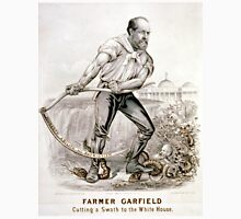 Farmer Garfield - Cutting a swath to the White House - 1880 - Currier & Ives Unisex T-Shirt