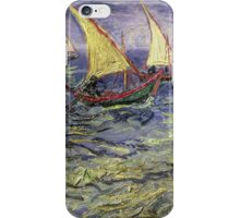 Vincent Van Gogh - Seascape At Saintes-Maries View Of Mediterranean iPhone Case/Skin
