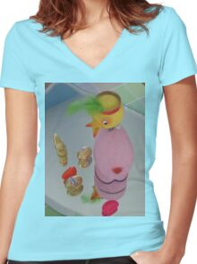 EASTER - OOPS! Women's Fitted V-Neck T-Shirt