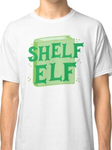 SHELF ELF with books (librarian book putting away assistant) Classic T-Shirt