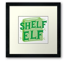 SHELF ELF with books (librarian book putting away assistant) Framed Print
