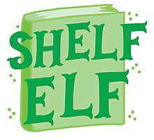 SHELF ELF with books (librarian book putting away assistant) Photographic Print