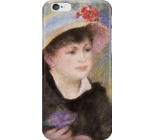 Auguste Renoir - Boating Couple said to be Aline Charigot 1881 iPhone Case/Skin