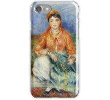 Auguste Renoir - Algerian Girl 1881 Fashion Woman Portrait iPhone Case/Skin