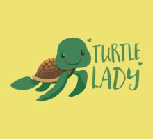 Turtle lady  Kids Tee