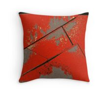 Red Parts Throw Pillow