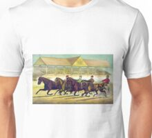 Fast trotters on a fast track - 1889 - Currier & Ives Unisex T-Shirt