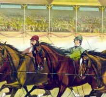 Fast trotters on a fast track - 1889 - Currier & Ives Sticker
