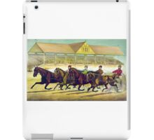 Fast trotters on a fast track - 1889 - Currier & Ives iPad Case/Skin