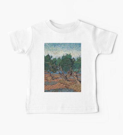1889-Vincent van Gogh-Olive grove-72,7x92,1 Baby Tee