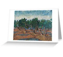 1889-Vincent van Gogh-Olive grove-72,7x92,1 Greeting Card