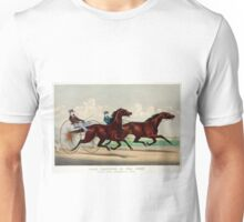 Fast trotting in the west - Lucy and Goldsmith Maid - 1871 Unisex T-Shirt