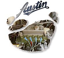Austin Mini Torn T Shirt Photographic Print