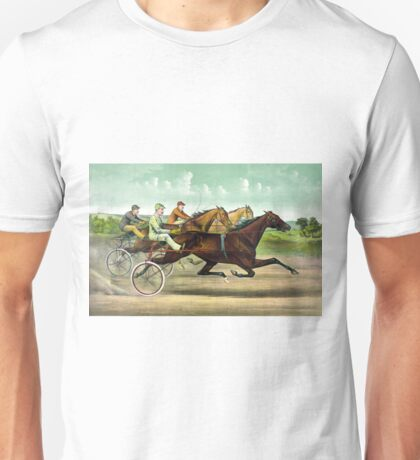 Fast trotting to fast wheels - 1893 - Currier & Ives Unisex T-Shirt