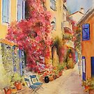Grimaud village - Provence - France by Beatrice Cloake