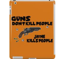 Space Guns don't kill People iPad Case/Skin
