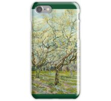 Vincent Van Gogh Post- Impressionism Oil Painting The white orchard, April 1888 - 1888 iPhone Case/Skin