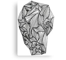 """Paradox"" Zentangle Doodle Print Metal Print"