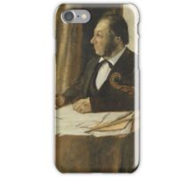 Edgar Degas - The Cellist Pilet (1868 - 1869) iPhone Case/Skin