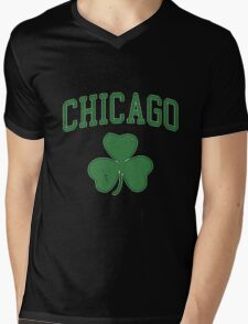 CHICAGO SHAMROCK Mens V-Neck T-Shirt