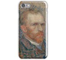 Vincent Van Gogh -  Post- Impressionism Oil Painting , Self-portrait, March 1887 - June 1887 iPhone Case/Skin