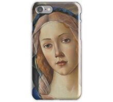 Botticelli  - The Virgin and Child  1490 Woman Portrait  iPhone Case/Skin