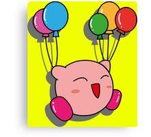 Kirby Balloons Canvas Print