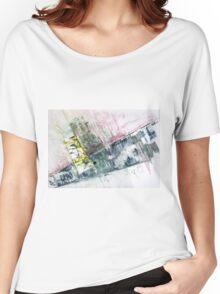 The Steel Jungle, Manhattan - Original Wall Modern Abstract Art Painting Original mixed media Women's Relaxed Fit T-Shirt